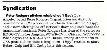Peter Rodgers pitches refurbished 'I Spy'