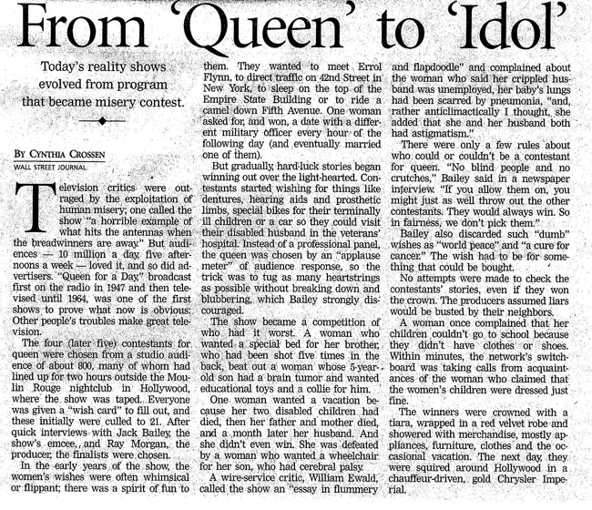 From Queen to Idol